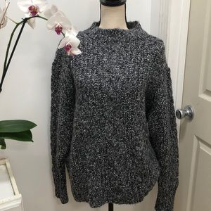 Topshop soft gray cable knit sweater Size 12 NEW